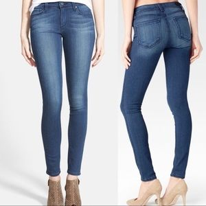 Paige Skyline Skinny Dark Wash Straight Denim Pant